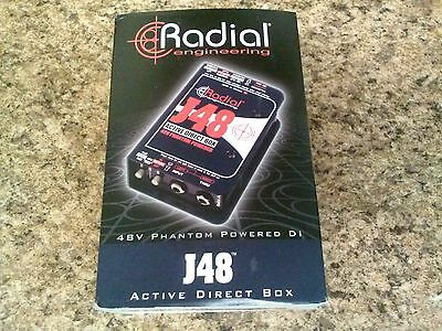 Radial J48 MK2 Active Direct Box Phantom Power New!