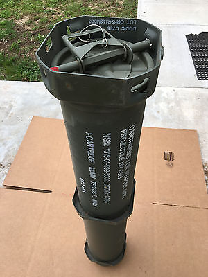 MILITARY SURPLUS 120MM AMMO TUBE Storage for valuables,etc. Waterproof Seal