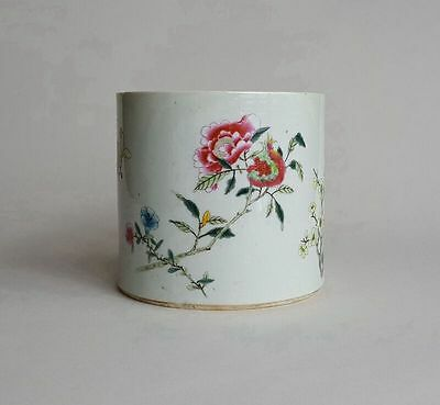 Antique Chinese Famille Rose Porcelain Brush Pot