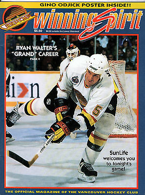 Vancouver Canucks March 9 1993 Vs New Jersey Winning Spirit Game Day Program