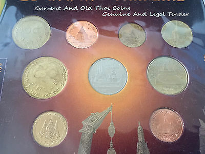 Thailand Baht Circulating & Old Coin Collection 9 Coins Uncirculated