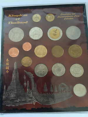 Thailand Baht Circulating & Commemorative collection 16 Coins VF/Uncirculated