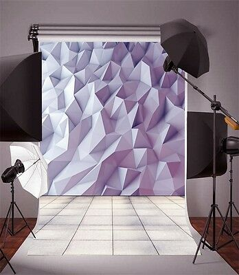 3D 5x7ft Vinyl Photography Backdrop Art Studio Props Wall Abstract Background