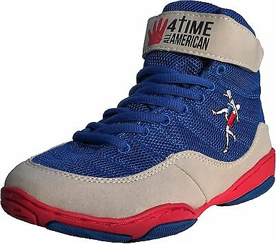 The Patriot blue wrestling shoes by 4 Time All American sizes 1-9.5 5
