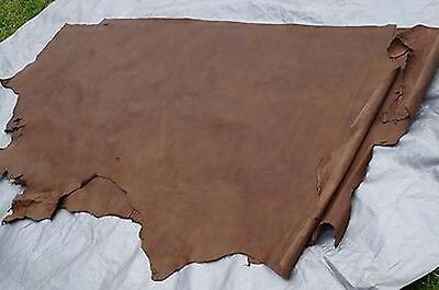 Two tone Brown cowhide leather side 2.01 - 2.2 sq m  Chrome tanned