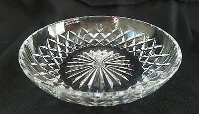 Vintage Richardson Crystal Round Cut glass Small Trinket serving bowl England