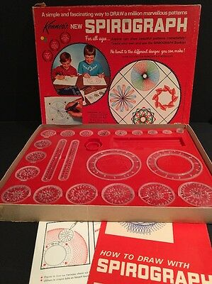 Vintage Kenner 1967 Spirograph No. 401 99% Complete with Manuals