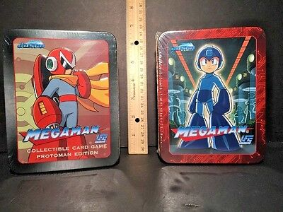 UFS MEGA MAN Rise of the Masters & PROTOMAN EDITION CCG Lot of 2 Tins SEALED