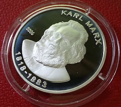 2006 Korea, 5 Won, Karl Marx, Father of Communism, Silver 999, Extremely Rare !!