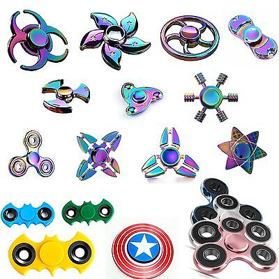 3D Fidget Hand Spinner rainbow fidget Stress Reliever Toys For Kids Adults AU