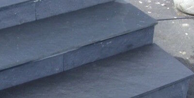 SAMPLE Slate Step /  window sill 100mm x 100mm x 30mm with all 3 edge finishes
