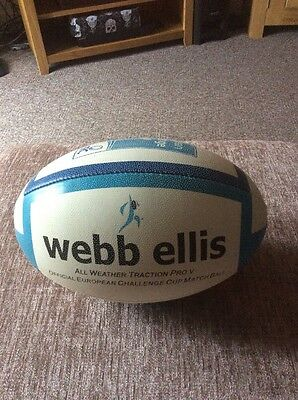 Webb Ellis Rugby Union Match Ball European Challenge Cup Match Played