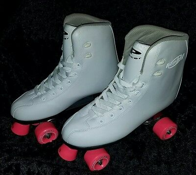 NEW Pacer Madrid White Adult ladies Quad Roller Skates Boots Size 10