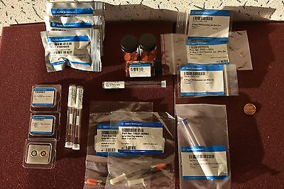 Lot of Agilent Lab Equipment Parts, Ignitor, Liner, O-Ring, Septa, Inlet seal