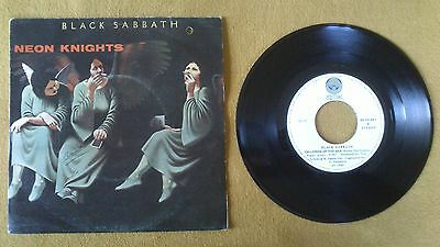 "Black Sabbath - Neon Knights / Children Of The Sea    7"" Vinyl Spanish"