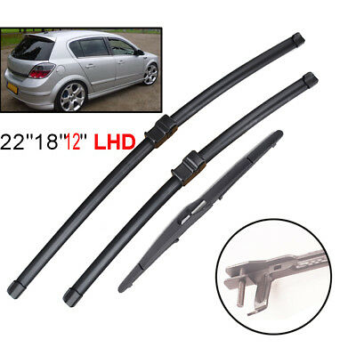 Rear Front Window Wiper Blades Set Windshield Fit For 2004-2009 Opel Astra H