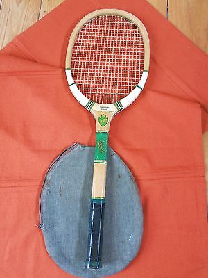 Atlas London Tennisschläger  &  Hülle - Tennis  Racket Atlas London  -Antique