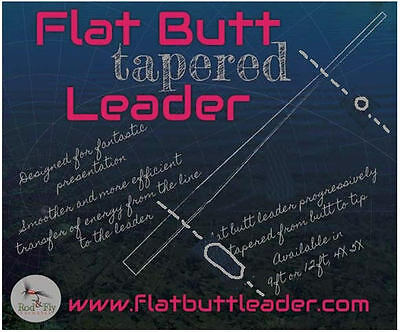 2 Flat Butt Tapered leaders 12ft