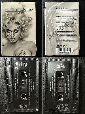 MADONNA CICCONE Bad girl/Fever 2tr CANADIAN Canada Single Cassette tape mcs