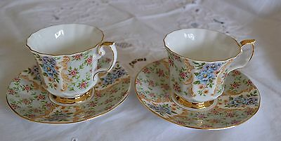 A Crownford Queen's Bone China 2 Duo Good Condition