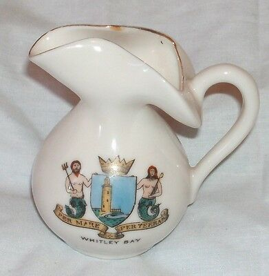 Early Gemma Crested Jug From Whitley Bay In Good Condition 3 Inches Tall