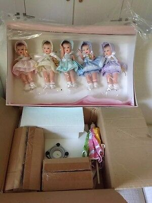 Madame Alexander 75th Anniversary Dionne Quint Dolls in Mint Condition.