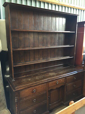 Edwardian Oak 2 Part Dresser