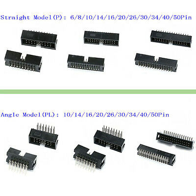 2.54mm IDC Straight & Angle Pin Boxed Headers Connector DC3 ISP JTAG Socket P&PL