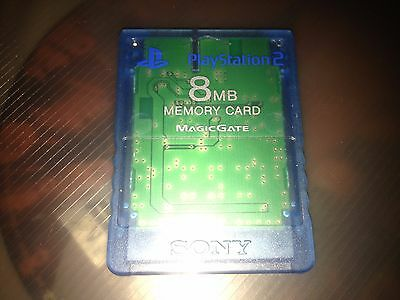 Genuine Blue SONY Free Mcboot  8MB Memory Card 1.953  ps2 FMCB SNES mod SNES