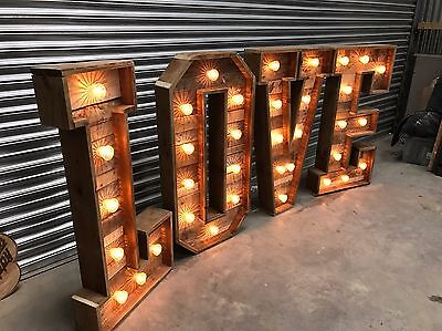 Giant Reclaimed Rustic Wood 4ft LOVE Letters  Hand Made for Wedding Venues