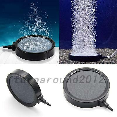 Aquarium Fish Tank Pond Air Stone Disk Diffuser Bubble Plate Black Trim Useful