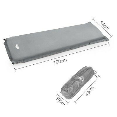 Self Inflating Camp Mattress 10cm Thick Mat Sleeping Quick Inflate Single Rollup