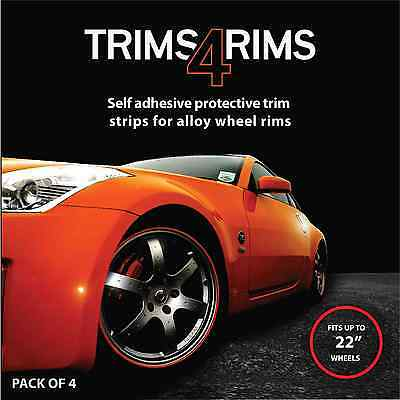 WHITE Trims4Rims by Rimblades-Alloy Wheel Rim Protectors/Rim Guards/Rim Tape