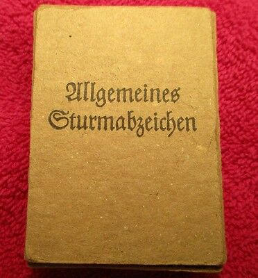 German Assault Badge Empty box, WW2 General award case