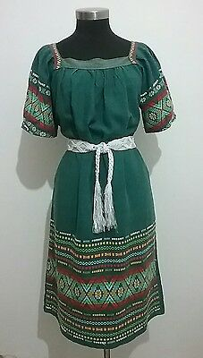 Vintage Guatemalan woven dress. sz 12-14. 100% cotton