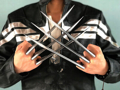 1Pair X-Men Wolverine Logan Blade Claws Paw Cosplay Men BF Birthday Gift Toy ABS