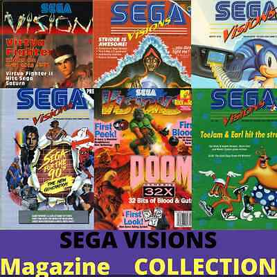 SEGA VISIONS Magazine Collection 25 Rare Vintage Retro Gaming Issues on 1 CD-ROM