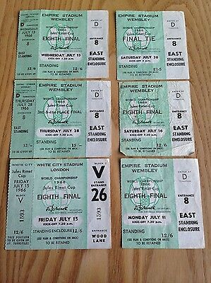 1966 World Cup Tickets - Genuine Stubs - Incl Final Tie - Over 50 Years Old