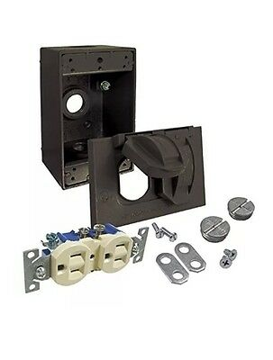 Hubbell-Bell 5839-7 Cover and Duplex Receptacle Weatherproof Box, Bronze