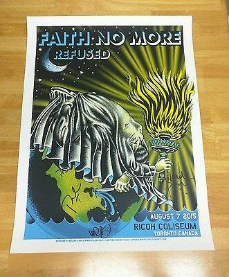 Faith No More Autographed Tour Poster 2015 Toronto