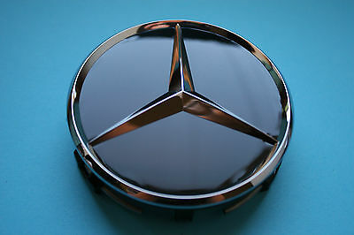 4x Genuine Mercedes Benz Alloy Wheel Centre Cap BLACK B66470200 A2204000125 NEW