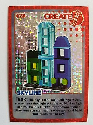 SAINSBURY'S LEGO CREATE THE WORLD TRADING CARD - No. 61 SKYLINE