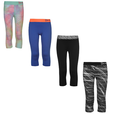 USA Pro Training Capri Leggings Tights Trousers Youth Girl