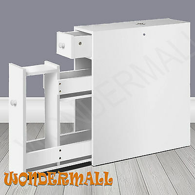 White Toilet Roll Storage Caddy Holder Bathroom Cabinet Cupboard Organiser