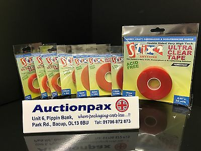 Stix2 Ultra Strong Double Sided Clear Permanent Tape Stix 2 Craft Hobby Red