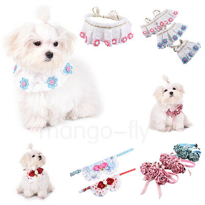 Adjustable Small Pet Dog Puppy Cat Neck Scarf Bandana with Collar Neckerchief