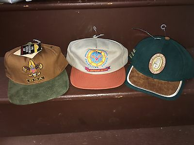 Vintage Boy Scouts Of America Hat Lot NWT Anniversary Etc Limited Edition