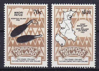 Norfolk Island Mi-Nr. 550 - 551 **, Cultural Contact With New Zealand