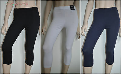 New M*S Cropped High Rise Leggings - Black White Navy Size 6 8 10 12 14 16 18