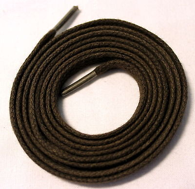 One Pair Men's Dark Brown Flat Shoe / Boot Laces 7mm wide x 1.27 metres long